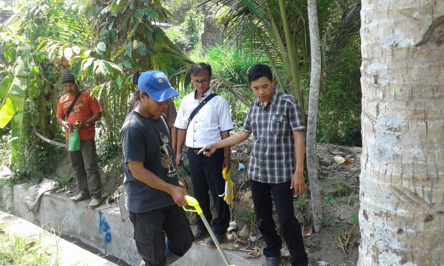 Image : Kegiatan Opnam pekerjaan irigasi 2018